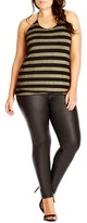 City Chic Plus Size Women's Shimmer Stripe Halter Top