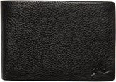 Rusty Bust Leather Wallet Black
