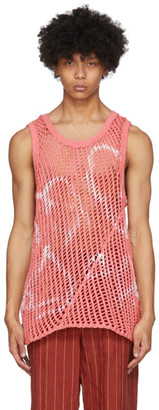 Nicholas Daley Pink Tie-Dye Knit Tank Top