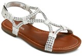 Cherokee Girls' Braided Strap Sandals Assorted Colors