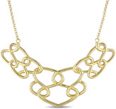 Catherine Malandrino 18K Gold-Plated Sterling Silver Interlaced Statement Necklace