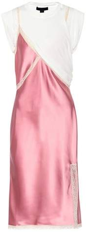 Alexander Wang Hybrid Slip satin dress