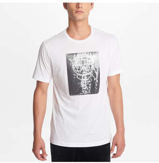 Karl Lagerfeld Paris Men Crew Neck T-Shirt With Sequined Character