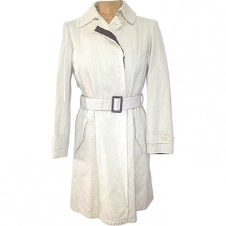 Max Mara 's Beige Cotton Trench Coat for Women