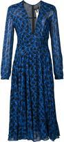 Derek Lam printed pleated dress