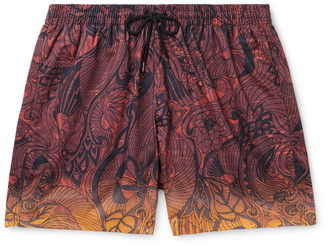 Dries Van Noten Mid-Length Degrade Printed Shell Swim Shorts