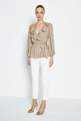 Coast Long Sleeve Ruffle Wrap Blouse