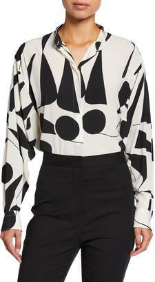 Isabel Marant Cade Printed Silk Shirt