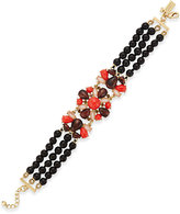 Kate Spade Burst Into Bloom Gold-Tone Boho Stone Bracelet