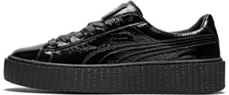 Puma Creeper Wrinkled Patent Shoes - Size 6W