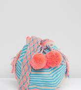 Jardin Del Cielo Wayuu Small Mochilla Bag In Pastel Multi
