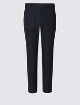 M&S Collection PETITE Cotton Rich Chino Slim Leg Trousers