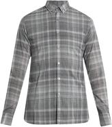 Lanvin Checked buttoned-collar single-cuff shirt