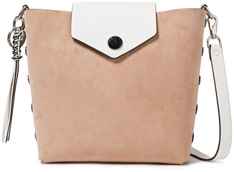 Rag & Bone Atlas Snap-detailed Two-tone Suede And Leather Bucket Bag