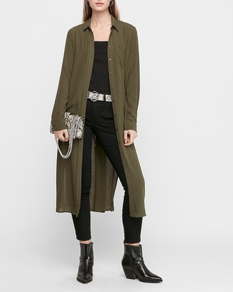 Express Textured Button Front Duster