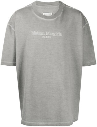 Maison Margiela logo-embroidered oversized T-shirt