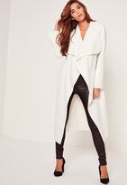 Missguided Oversized Waterfall Duster Coat White