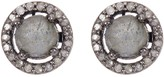 ADORNIA Sterling Silver Echo Labradorite & Diamond Halo Stud Earrings