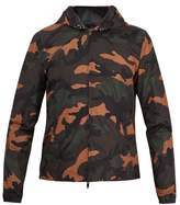 Valentino Camouflage-print Hooded Shell Jacket