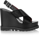 Marc by Marc Jacobs Irving calf hair wedge sandals