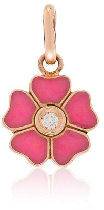 Gigi Clozeau 18kt Yellow Gold Diamond-Embellished Flower Charm