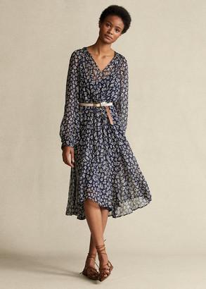 Ralph Lauren Floral-Print Long-Sleeve Dress
