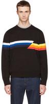 Rag & Bone Black Glitch Graphic Sweater