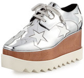Stella McCartney Elyse Star Platform Oxford, Indium/White