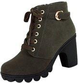 Gleader Women platform high heel single shoes vintage Motorcycle Boots Martin Boots US7