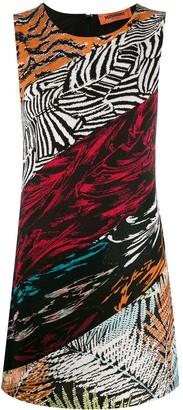 Missoni pattern-mix knitted dress