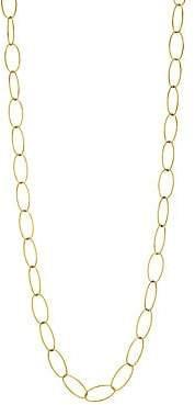 Milani Alberto Women's Via Brera 18K Yellow Gold Open Oval Chain Link Long Necklace