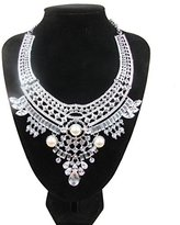 Dis_show Tribal Vintage Retro Style Silver Plated Alloy Choker Necklace for Women Bohemia Necklace