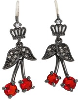 Juicy Couture Fresh Picked Cherry Drop Earrings (Red) - Jewelry