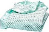 Trend Lab TREND LAB, LLC Mint Polka Dot Velour Blanket