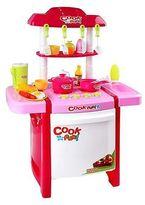 NEW Resort Living Little Chef 25-Piece Play Kitchen, Pink