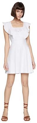 BCBGeneration Square Neck Dress TRJ6268188 (Optic White) Women's Dress