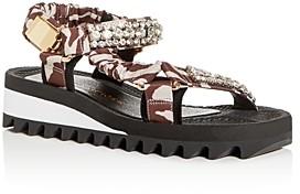 Kurt Geiger Women's Orion Mixed-Media Platform Sandals
