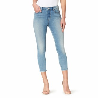 Skinnygirl Women's Plus Size High Rise Skinny Crop in Injeanious Stretch Denim
