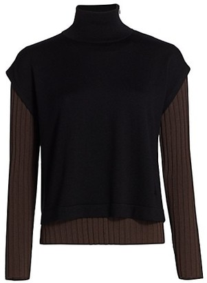 Akris Two-Piece Layered Knit Pullover Sweater