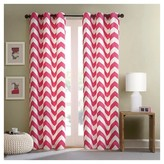 Nobrand No Brand Leo Chevron Curtain Panel Pair