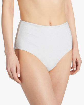 Mikoh Mulki Metallic High-Waist Bikini Bottom