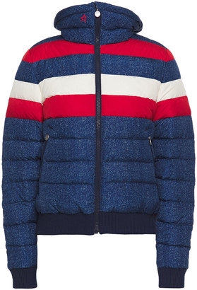 Perfect Moment Quilted Striped Shell Ski Jacket
