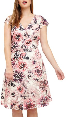 Studio 8 Joselyn Printed Lace Dress, Pink/Multi