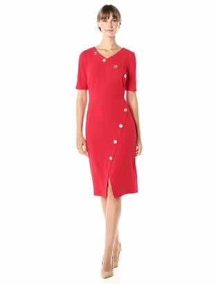 Sharagano Women's Assymetrical Hem Dress