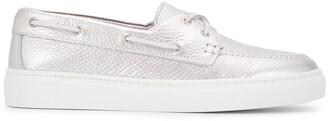 Henderson Baracco Metallic Contrast Heel Loafers