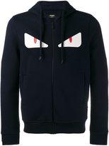 Fendi Bag Bugs zip hoodie - men - Cotton/Lamb Skin/Wool - 46