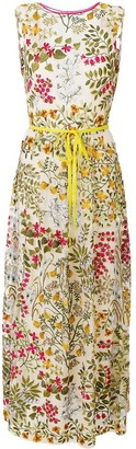 RED Valentino Floral Embroidery Sleeveless Maxi Dress
