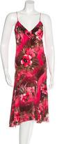 Blumarine Floral-Print Silk Dress