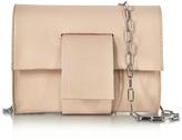 MM6 Maison Martin Margiela Powder Pink Grainy Leather Clutch w/Chain Strap