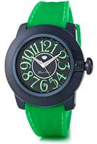 Glam Rock SoBe SB3011 – Ladies Watch – Analogue Quartz – Black Dial – Silicone Wristband – Green